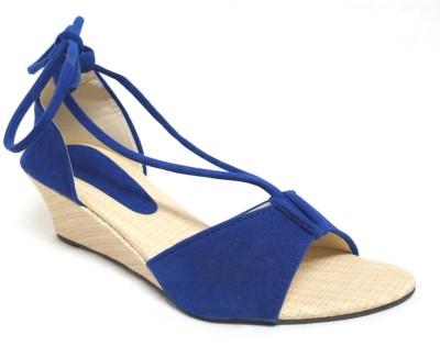 Nshell Women Blue Flats