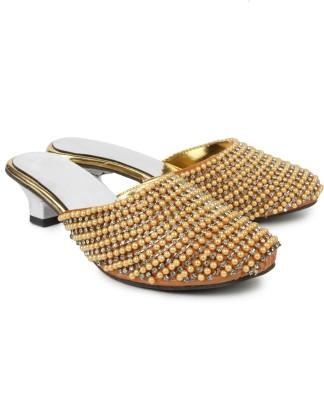 Spectrum Women Gold Heels