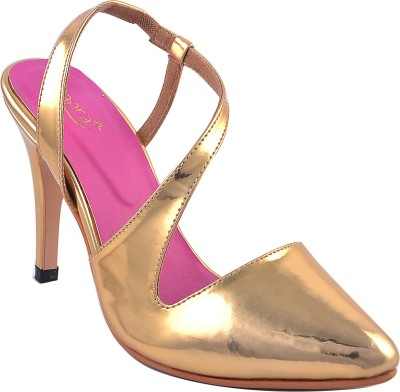 Zaera Women Gold Heels