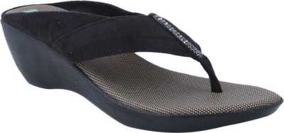 Ncollections Women Black Wedges