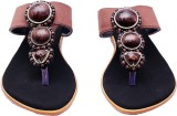 i-design Women Brown Flats