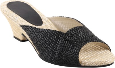 Shoestory Women Black Wedges