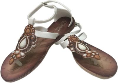 Oh Feet ! Women White Flats
