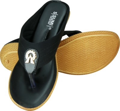 SUMI Collections Women Black Wedges