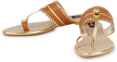 Naisha Women Tan Flats