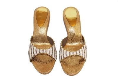 Mellofic Women Gold Heels