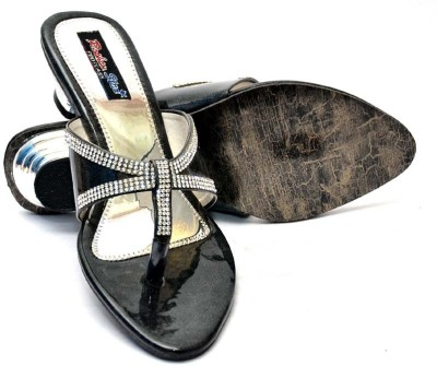 Vogueguys Black Sliper Women Black Heels
