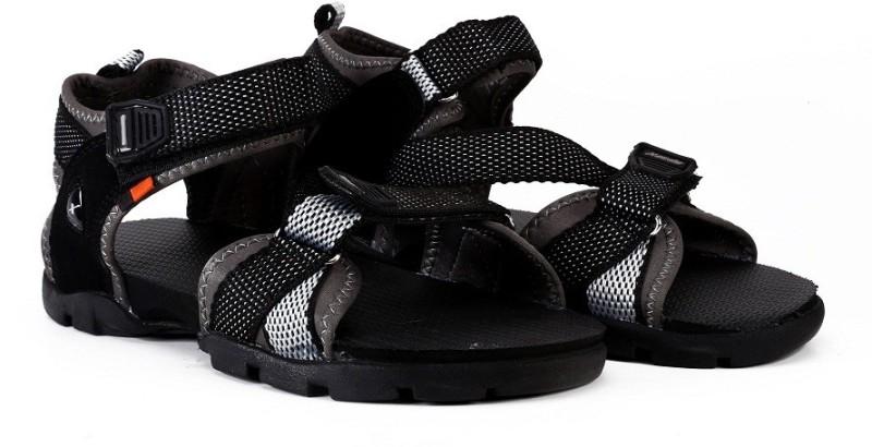Sparx Men Black Grey Sports Sandals
