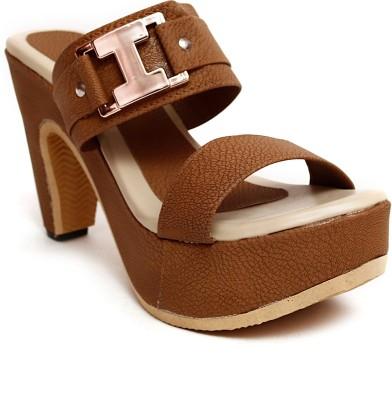 MK COLLECTIONS Women Brown Heels