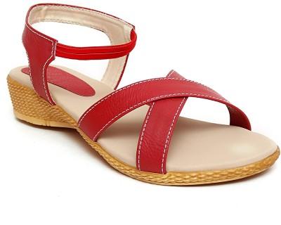 Trendy Women Red Wedges