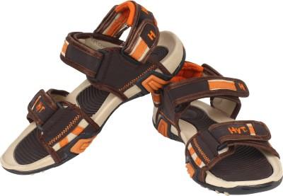 Hytech Men Brown, Orange Sandals