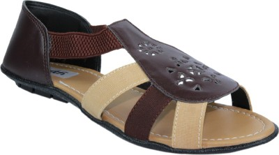 Faith Women Brown Flats