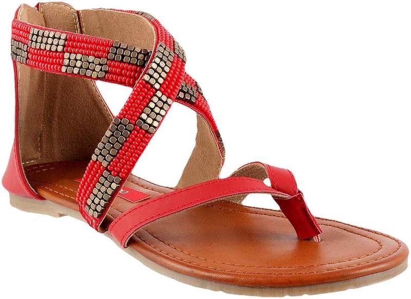Metro Women Red Flats