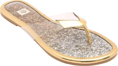 Gush Women Gold Flats