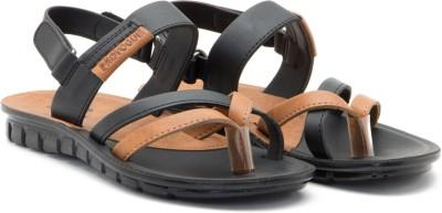 Provogue Men Black, Tan Sandals