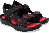 Lotto Men Black/Red Sports Sandals