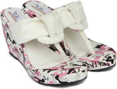 2B Collection Women White Wedges