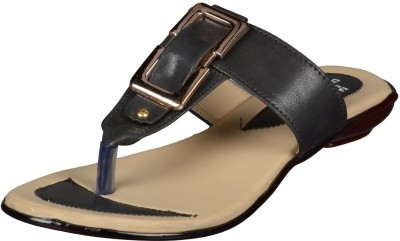 Kolapuri Centre Women Black Flats