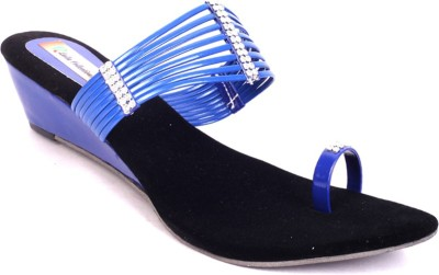 Laila Collections Women Blue Wedges