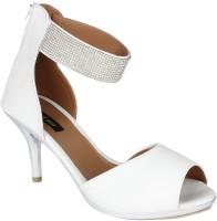 Just Wow Women White Heels