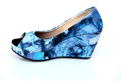 Paras Women Blue Heels