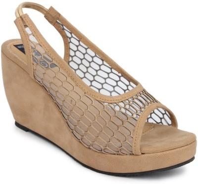 Sindhi Footwear Women Beige Wedges