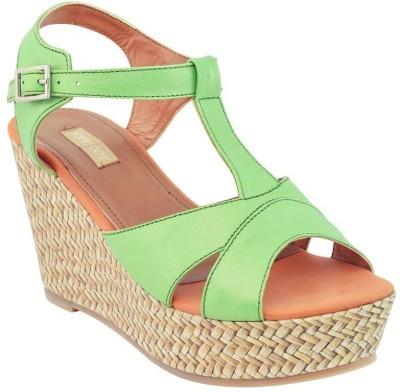 Fabfoot Women Green Wedges
