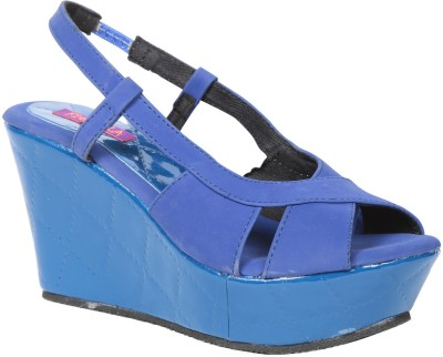 Fiorella Women Blue Wedges