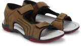 Cozy Men Charming Brown & Hot Red Sandal...