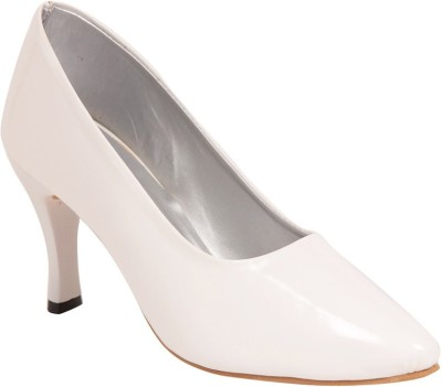 ALA MODE Women White Heels