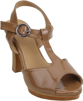 Glitzy Galz Women Beige Heels