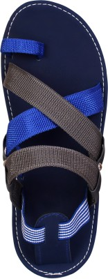 Anav Men Blue, Grey Sandals