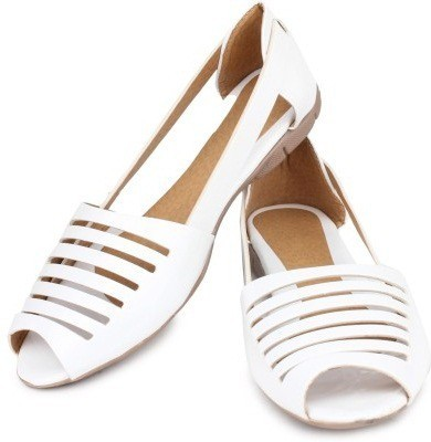 ALA MODE Women White Flats