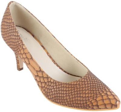 Charu- Diva Design Studio Women Tan Heels