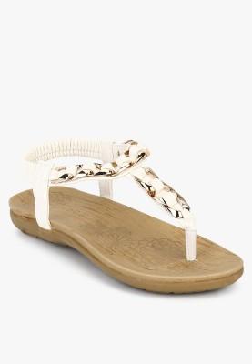 Addons Women White Flats