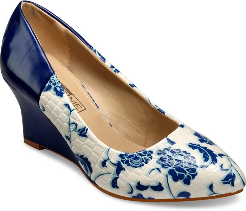 Yepme Women Blue White Wedges