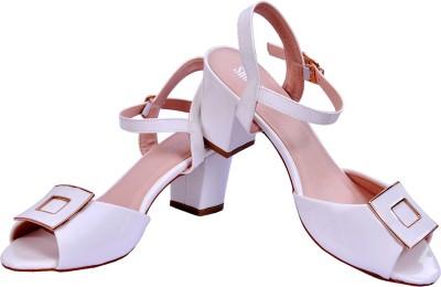 The Shoe Closet Women White Heels