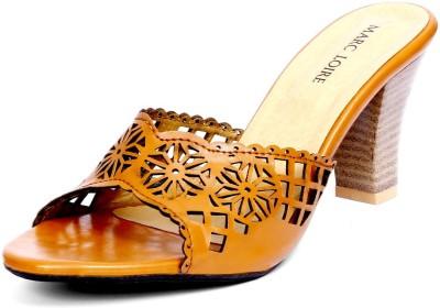 Marc Loire Women Tan Heels