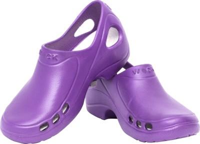 Wock Women Purple, Blue Clogs