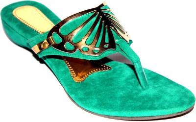 Angeela Girls Green Sandals