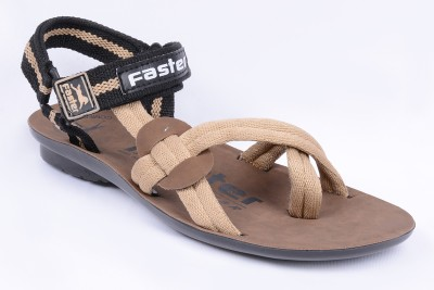 Faster Men Black, Tan Sandals