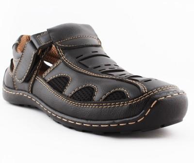 VEBERO Men Black Sandals
