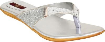 Authentic Vogue Women Silver Flats