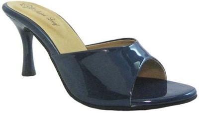 Mapple Leeaf Women Blue Heels