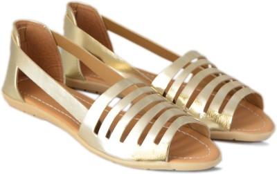 VANESSA Women Gold Flats