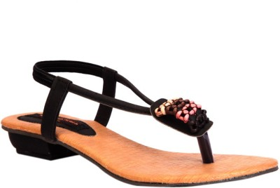 Trilokani Stylish Women Black Flats