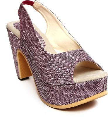 Zohra Collection Women Pink Heels