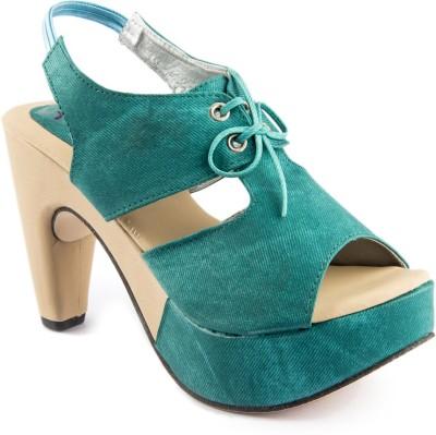 Womens Club Girls Green Sandals