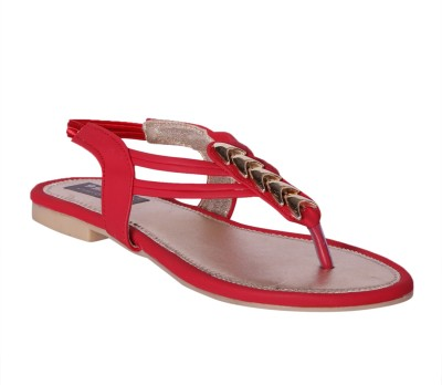 Pantof Girls Red Flats