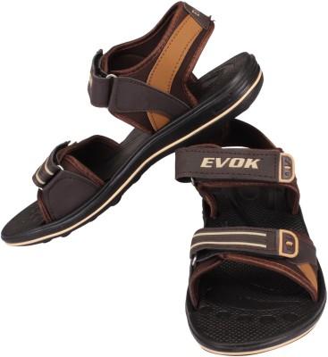 Evok Men Brown Sandals